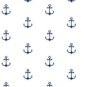 Anchor White - Cobalt Blue