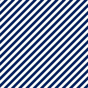 Diagonal Stripes - Cobalt Blue