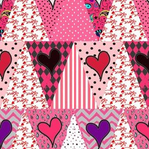 Valentine's  Day Pennant Bunting {Triangle Patchwork}