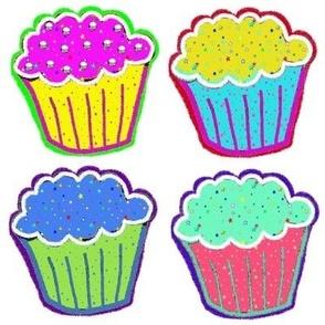 Rainbow Cupcakes with Sprinkles