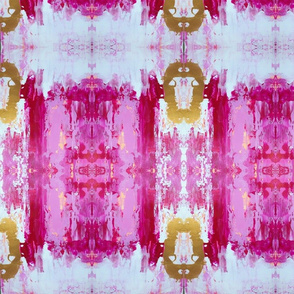 Pink and gold fabric