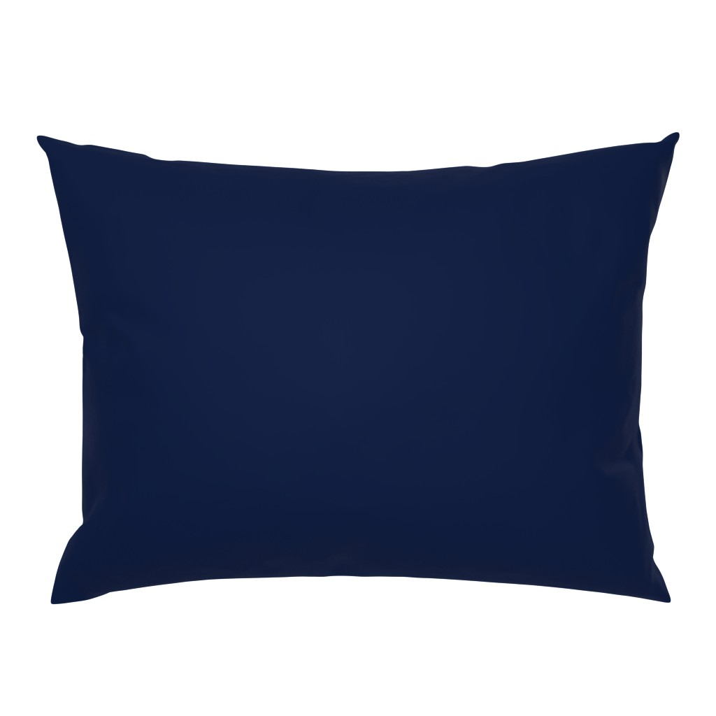 Campine Pillow Sham featuring Navy Blue by theartwerks