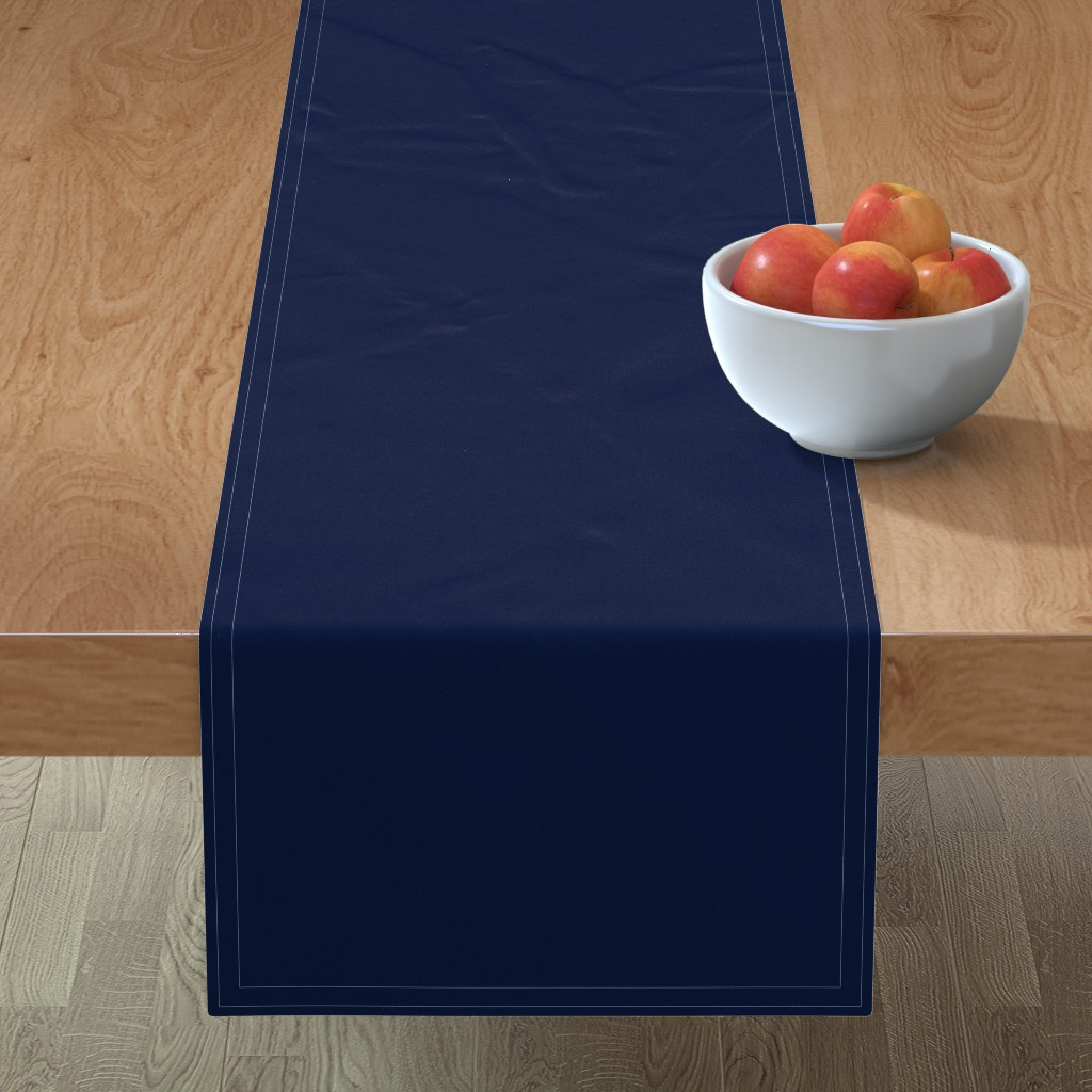Minorca Table Runner featuring Navy Blue by theartwerks