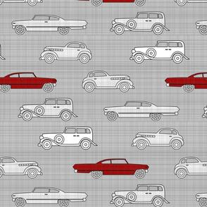 Linen Retro Cars