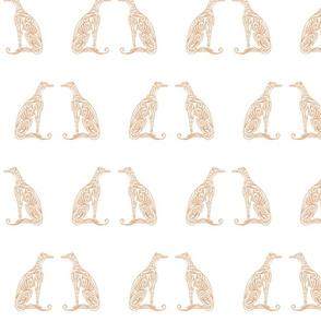 Greyhounds - Seeing Double - Soft Orange