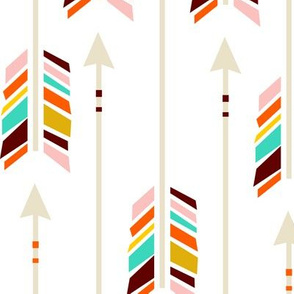 Large Arrows: White