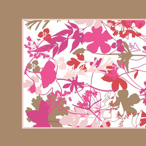 Pink Garden Tea Towel