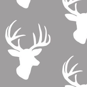 White deer on grey