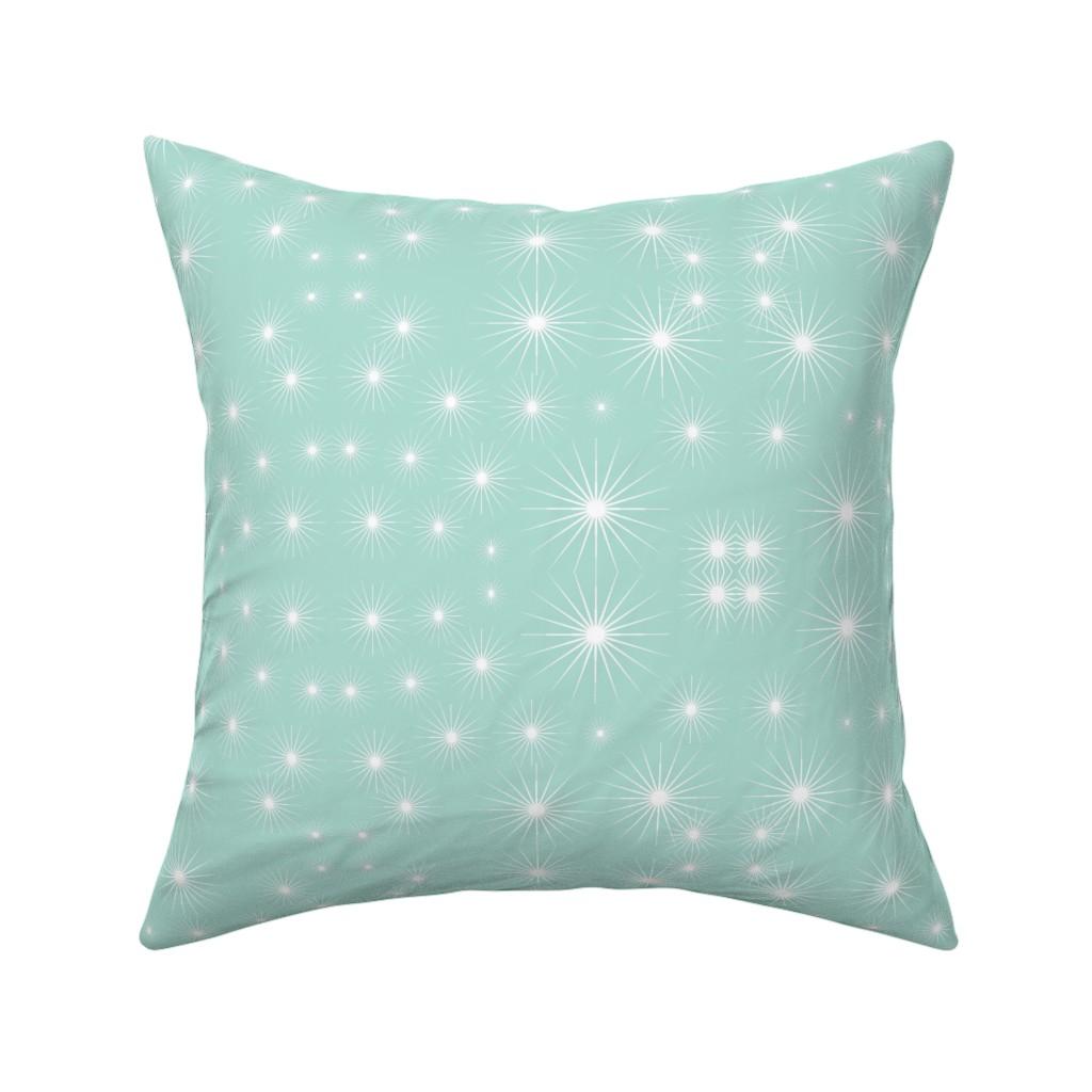 Catalan Throw Pillow featuring Starburst Cool Mint by daniellereneefalk