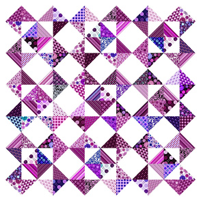 "Monster Cheater Quilt - 36""x36"" - Purples and Pinks"