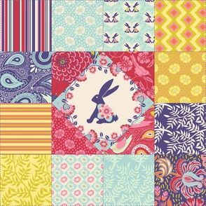Spring Bunny Cheater Quilt
