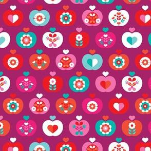 Fantastic freshtastic colorful flower apple pattern