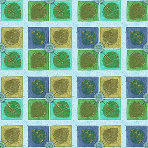 Leaf Squares blues