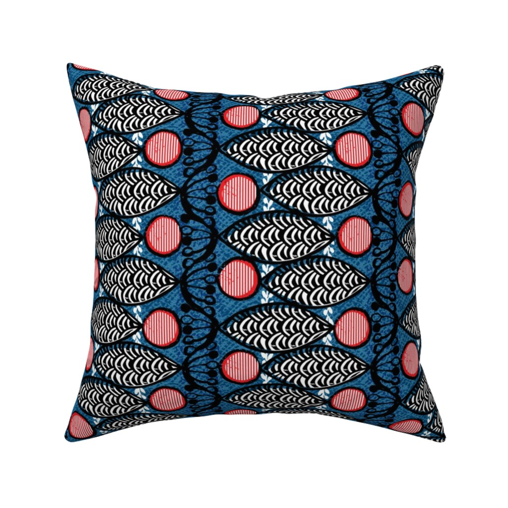 Catalan Throw Pillow featuring samaki-African by ottomanbrim