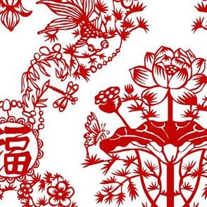 Chinese Papercut Damask