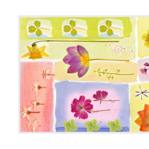 Spring Garden Tea Towel