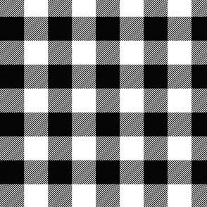 Large Faux Gingham Black & White