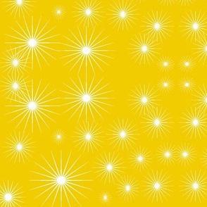 Starburst in golden yellow