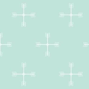 Arrow cross Cool Mint