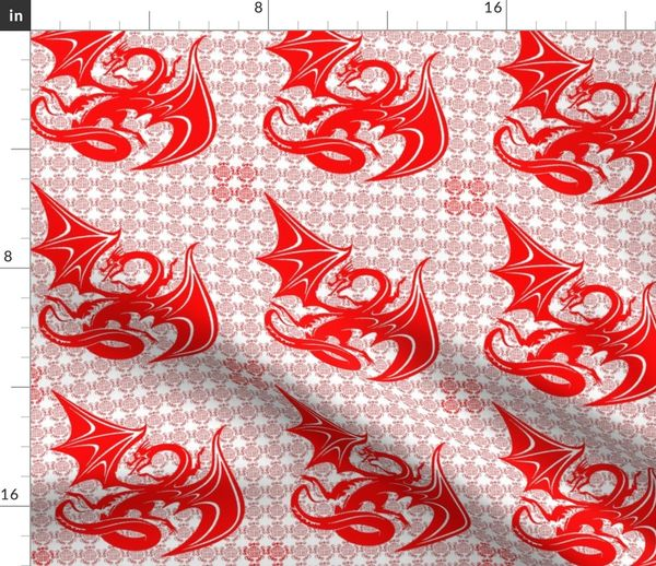 Tissu Au Mètre Papier Asie Asiatique Chinois Cutwork Dragon