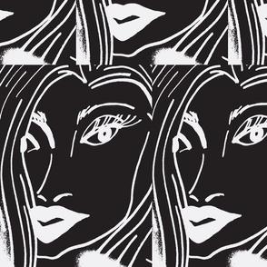 Roxanne (in black/white)