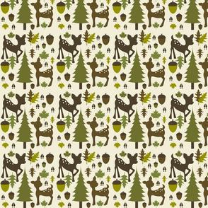 Green & Brown Deer Pattern