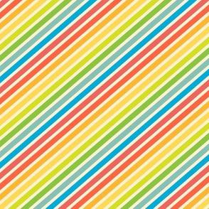 Diagonal Stripes, Rainbow