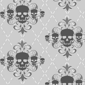 Gray Argyle Skull