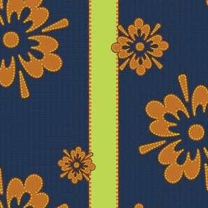 Tropical Floral Limestripes