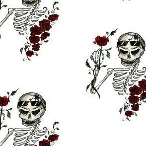 Skeleton & Roses, Large, White