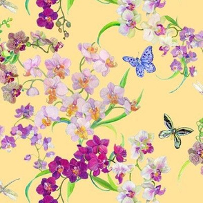 Tossed Orchids (yellow)