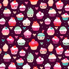 Lovely kawaii birthday cupcake party
