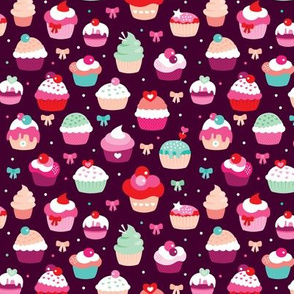 Lovely birthday cupcake illustration party