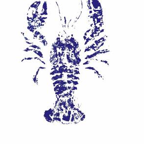 lobster fish rubbing fabric & wall paper