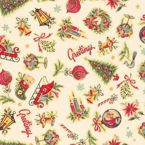 Retro Christmas Decals