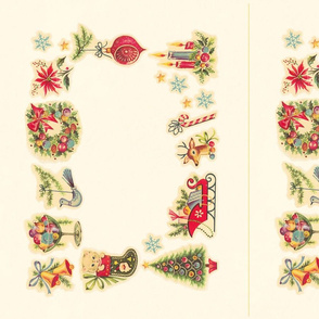 Retro Christmas Placemats & Napkin Rings