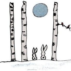 Birch Tree Bunnies 2