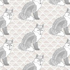 Tribal Fox in Grey
