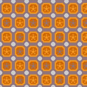 Oil cloth _ dusk _ tiles