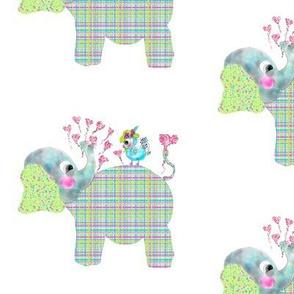Henri the Elephant loves Mademoiselle Tweet