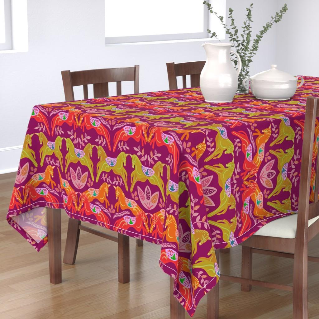 Bantam Rectangular Tablecloth featuring Unicorn by susan_polston