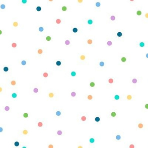 Polka Dots to the Max (White) || circles geometric baby nursery kids children party confetti