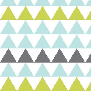 mint and grey triangles
