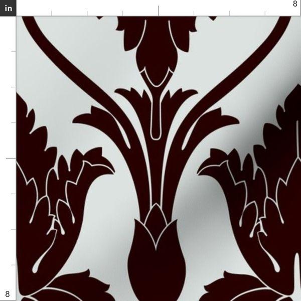 Fabric By The Yard Sherlock Wallpaper Pattern Large