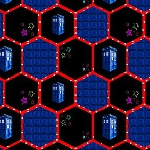 Geeky Molecules, Police Box with Tiny Stars