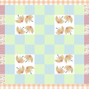 Flossie's Garden Quilt Top (yellow)