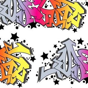 Graffiti White Background