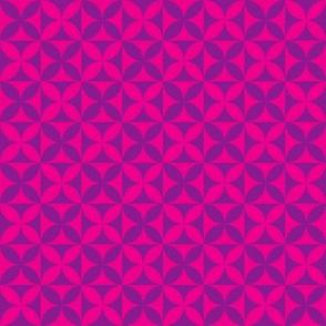 Plumeria Tapa Cloth Hot Pink Violet