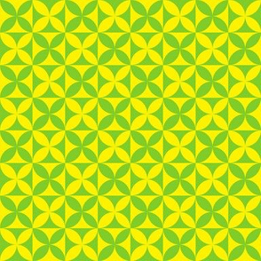 Plumeria Tapa Cloth Yellow Green