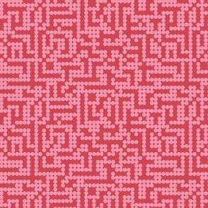 Mod pixel dots - pink on red